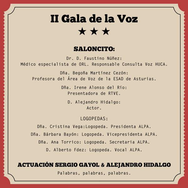 II Gala de Voz Asociación Logopedas de Asturias Teatro Jovellanos