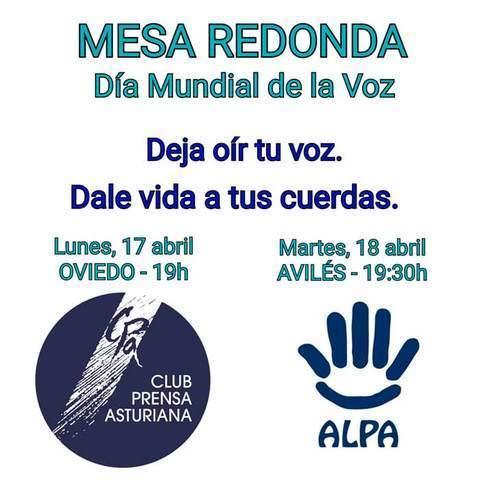 ALPA - MESA REDONDA: Deja oír tu voz. Dale vida a tus cuerdas - ALPA - Asociación de Logopedas del Principado de Asturias