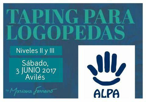 ALPA - TAPING PARA LOGOPEDAS - ALPA - Asociación de Logopedas del Principado de Asturias